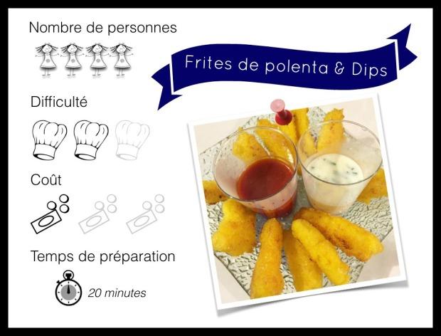 Frites polenta et dips